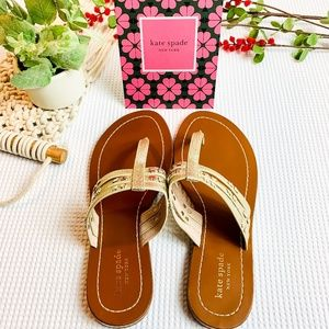 KATE SPADE NWT Gold Embellished Sandals